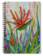 Bird Of Paradise In An Imaginary Garden Spiral Notebook