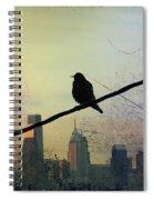 Bird On A Wire Spiral Notebook