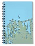 Bird On Fence Aqua II Spiral Notebook