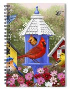 Bird Painting - Primary Colors Spiral Notebook