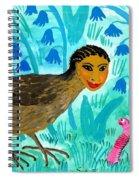 Bird People Blackbird And Worm Spiral Notebook