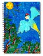 Bird People Green Woodpecker Spiral Notebook