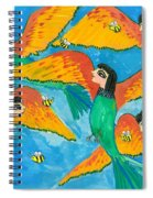 Bird People Little Green Bee Eaters Of Upper Egypt Spiral Notebook