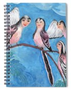 Bird People Long Tailed Tits Spiral Notebook