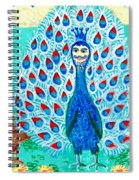 Bird People Peacock King And Peahen Spiral Notebook