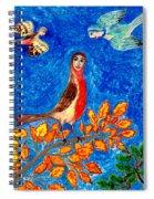 Bird People Robin Spiral Notebook