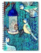 Bird People The Bluetit Family Spiral Notebook