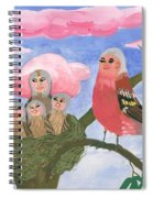 Bird People The Chaffinch Family Spiral Notebook