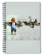 Bird Play Spiral Notebook