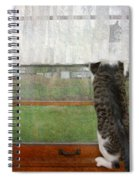 Bird Watching Kitty Cat Spiral Notebook