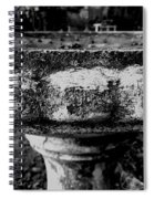 Birdbath In Black And White  Spiral Notebook