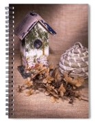 Birdhouse And Beehive 2 Spiral Notebook