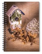 Birdhouse And Behive 1 Spiral Notebook