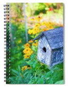 Birdhouse And Flowers Spiral Notebook