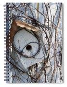 Birdhouse Brambles Spiral Notebook