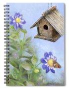 Birdhouse In A Country Garden Spiral Notebook