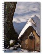 Birdhouse In Snow Spiral Notebook