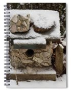 Birdhouse In The Snow Spiral Notebook