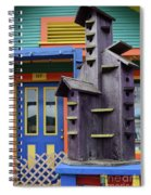 Birdhouses For Colorful Birds 2 Spiral Notebook