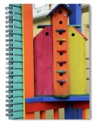 Birdhouses For Colorful Birds 5 Spiral Notebook