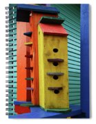 Birdhouses For Colorful Birds 6 Spiral Notebook