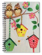 Birds And Birdhouse Spiral Notebook