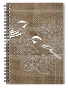 Birds And Burlap 2 Spiral Notebook