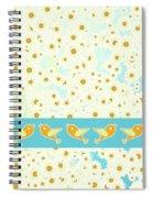 Birds And Daisies Spiral Notebook