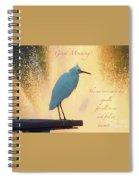 Birds And Fun At Butler Park Austin - Birds 3 Detail Macro Poster - Good Morning Spiral Notebook