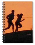 Birds And Fun At Butler Park Austin - Jogging - Sunset Run Spiral Notebook