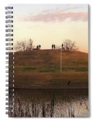 Birds And Fun At Butler Park Austin - Silhouettes 1 Detail Spiral Notebook