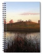 Birds And Fun At Butler Park Austin - Silhouettes 1 Spiral Notebook