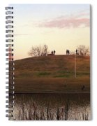 Birds And Fun At Butler Park Austin - Silhouettes 1 Panorama Spiral Notebook