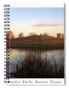 Birds And Fun At Butler Park Austin - Silhouettes 1 Poster And Greeting Card Spiral Notebook