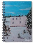 Birds Berries And November Snow Spiral Notebook