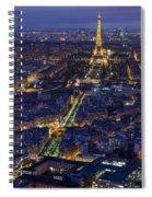 Bird's Eye On Paris 2 Spiral Notebook