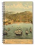 Birds Eye View Map Of San Francisco 1846 Spiral Notebook