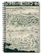 Birds-eye View Of California Spiral Notebook