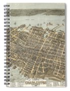 Birds Eye View Of Charleston Spiral Notebook