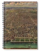 Birds Eye View Of Chicago 1916 Spiral Notebook