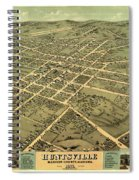 Bird's Eye View Of The City Of Huntsville, Madison County, Alabama 1871 Spiral Notebook