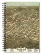 Bird's Eye View Of The City Of Raleigh, North Carolina 1872 Spiral Notebook