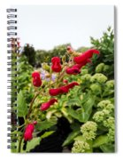 Birds In A Tree Flowers Spiral Notebook