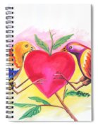 Birds In Love 01 Spiral Notebook