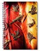 Birds Of A Decor Feather Spiral Notebook