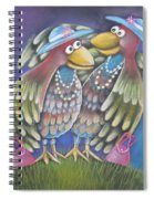 Birds Of A Feather Stick Together Spiral Notebook