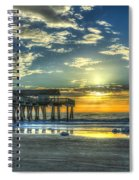 Birds On The Roof Sunrise Tybee Island Spiral Notebook