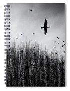 Birds Over Bush Spiral Notebook