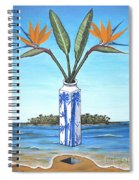 Birds Over Paradise Flowers Spiral Notebook