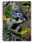Birds That Fly In Electric Skies Spiral Notebook